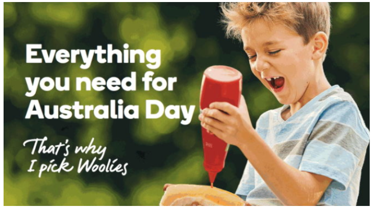 Image of Woolworths Aussie Day Campaign