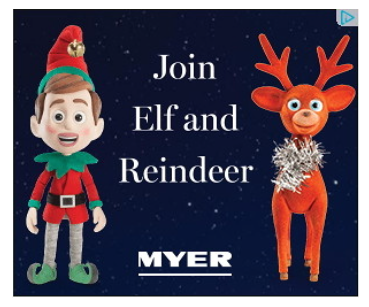 Image of Myer digital campaign