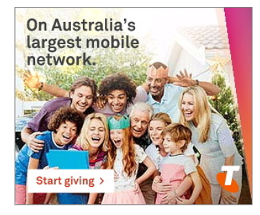 Image of Telstra digital campaign
