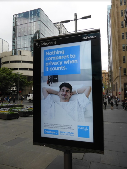 IMAGE OF BUPA CAMPAIGN
